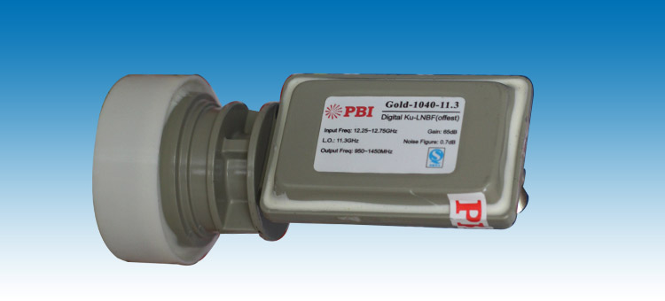 pbi高频头 gold-1040 ku波段双极化单输出馈源一体化高频头